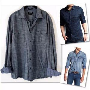 Nordstrom Shirts - NORDSTROM MEN'S SHOP TRIM FIT SHIRT SZ XL